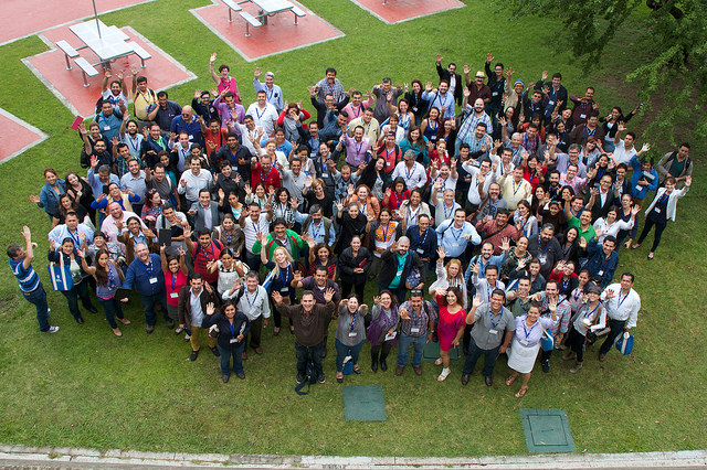 UdG Agora - Group photo, September 2015