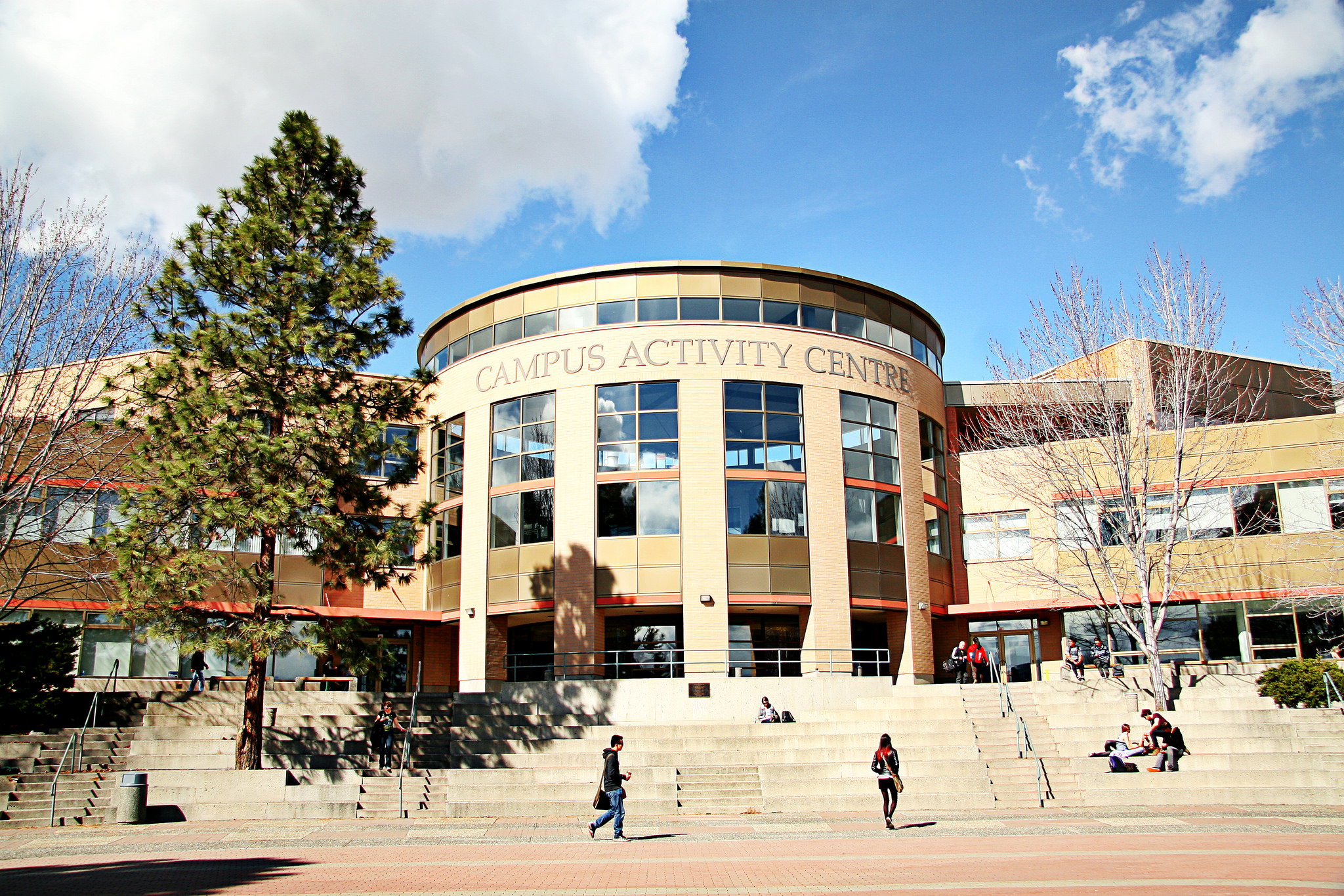 Exterior of Campus Activity Centre building at TRU